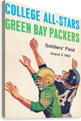1962 Green Bay Packers vs. College All-Stars  Canvas Print