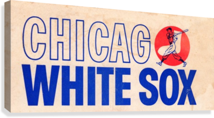 1962 CHICAGO WHITE SOX ART ROW ONE BRAND  Canvas Print