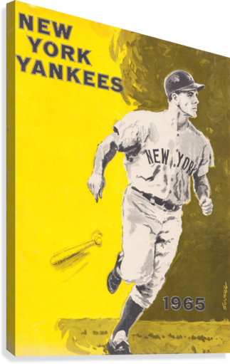 1965 NEW YORK YANKEES POSTER ROW ONE BRAND  Canvas Print