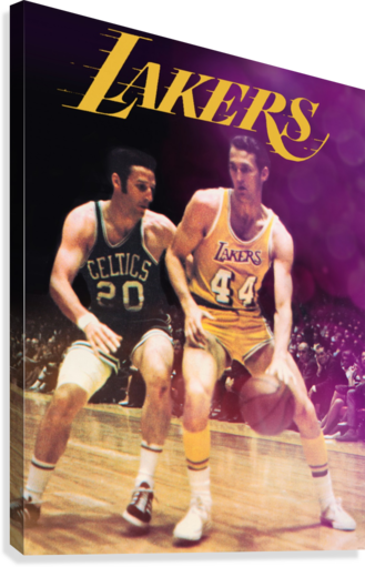 1969 Los Angeles Lakers Jerry West Art  Canvas Print