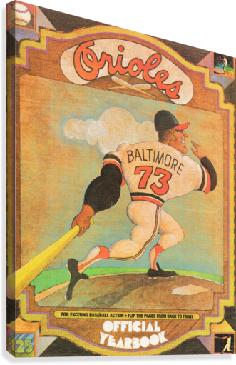 1973 Baltimore Orioles Yearbook Poster  Canvas Print