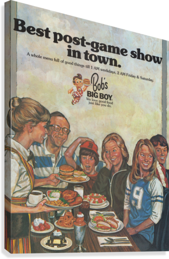 1978 BOBS BIG BOY RESTAURANT AD_BEST VINTAGE ADS_RETRO ADVERTISEMENT_POST GAME SHOW AD ROW ONE BRAND  Canvas Print
