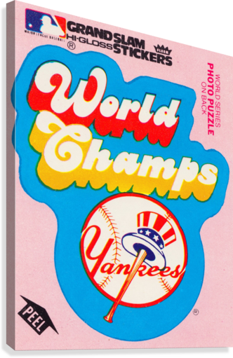 1979 fleer sticker new york yankees world champs poster  Canvas Print