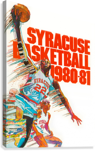 1980 SYRACUSE ORANGE BASKETBALL POSTER ROW ONE BRAND  Canvas Print