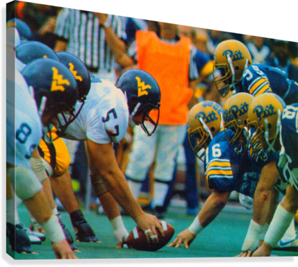 1981 College Football Photo West Virginia Pitt Panthers Wall Art  Canvas Print