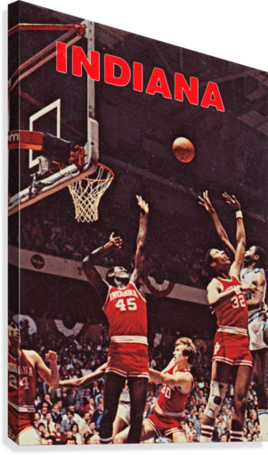 1981 indiana hoosiers basketball poster  Canvas Print