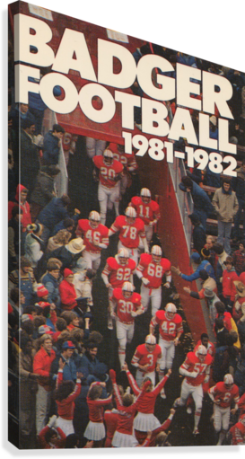 1981 Wisconsin Badgers Football Poster  Canvas Print