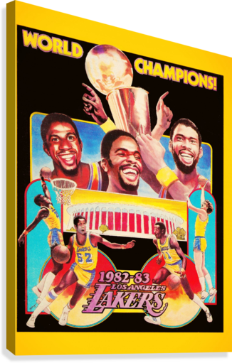 1982 LA LAKERS CHAMPION POSTER ROW ONE BRAND  Canvas Print