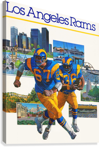 1982 la rams downtown los angeles hollywood poster  Canvas Print