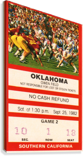 1982 USC vs. Oklahoma  Canvas Print