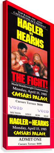 1985 hagler hearns boxing match caesars palace las vegas the fight  Canvas Print