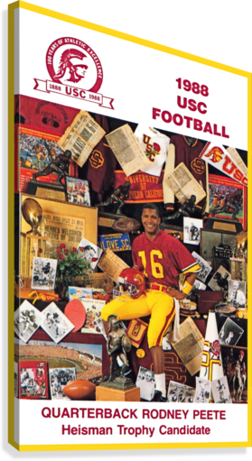 1988 usc football poster heisman candidate rodney peete  Canvas Print