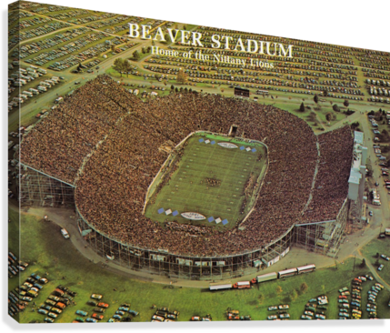 PENN STATE FOOTBALL BEAVER STADIUM POSTER 1981 ROW ONE BRAND  Canvas Print