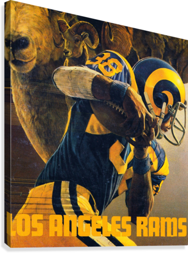 Rams Football Poster (1980)  Canvas Print