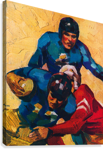 Vintage Football Players in 1946  Canvas Print