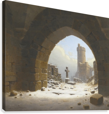 Ruins on the edge of the city  Canvas Print