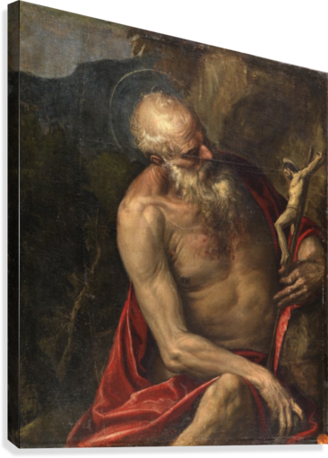 SAINT JEROME MEDITATING PAOLO VERONESE  Canvas Print