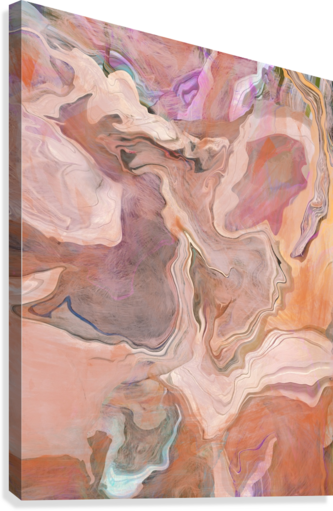 Patterns in Mauve and Orange  Canvas Print