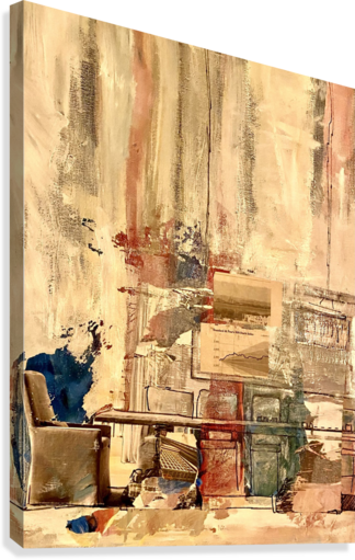 Dining Room Deconstructed   Canvas Print