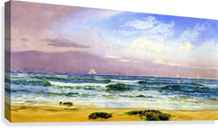 Shipping off the Coast  Canvas Print