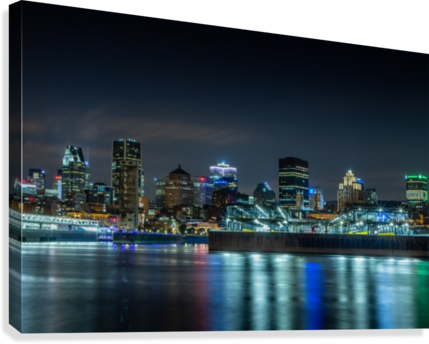 Montreal Skyline  Canvas Print