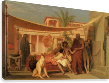 Socrates seeking Alcibiades in the House of Aspasia  Canvas Print