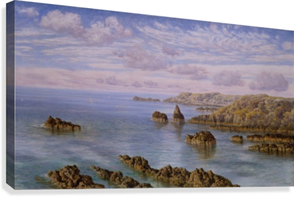 Southern Coast of Guernsey, 1875  Canvas Print