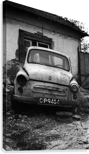 Abandoned ZAZ 965  USSRs replica of FIAT 600  Canvas Print