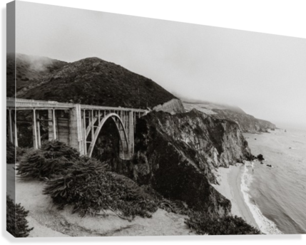 Bixby Bridge B&W  Impression sur toile