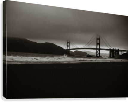 B&W Golden Gate  Impression sur toile