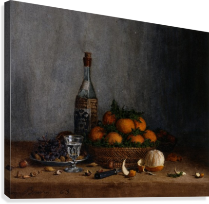 Still Life with Basket of Oranges  Canvas Print