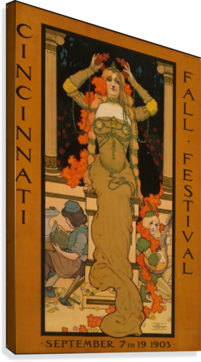 FALL FESTIVAL VINTAGE POSTER  Canvas Print