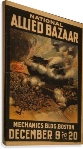 National Allied Bazaar  Canvas Print