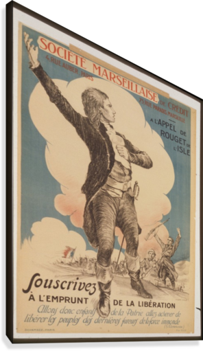 VINTAGE---MARSEILLAISE-SOCIETY VINTAGE POSTER  Canvas Print