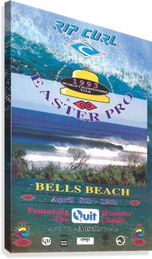 1993 RIP CURL BELLS BEACH EASTER Surfing Championship Competition Print - Surfing Poster  Canvas Print
