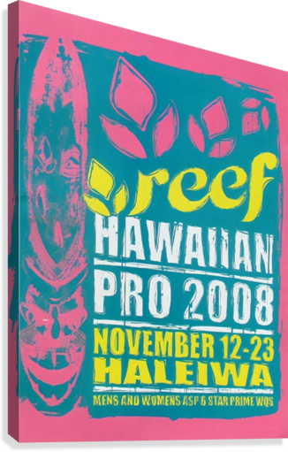2008 REEF HAWAIIAN PRO Surf Competition Poster  Canvas Print