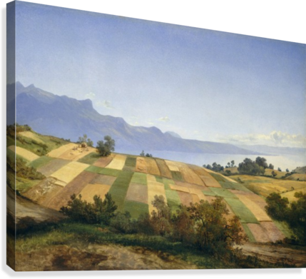 Swiss Landscape 1830  Canvas Print
