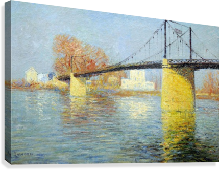 The Banks of the Seine, Triel  Impression sur toile