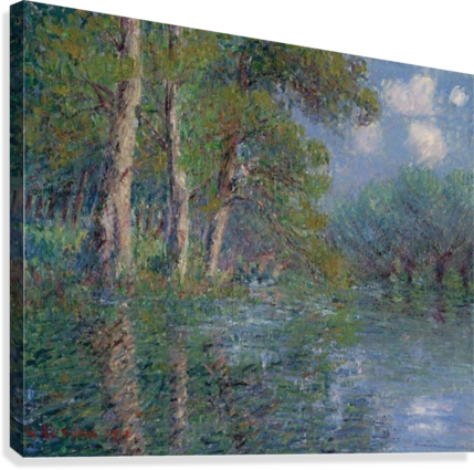 The Bend of the Eure  Canvas Print