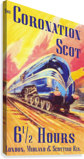 The Coronation Scot travel poster  Canvas Print