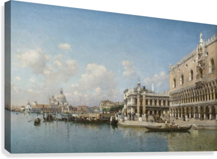 The Doge Palace and Santa Maria Della Salute  Canvas Print