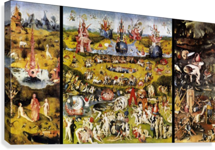 The Garden of Earthly Delights , Hieronymus Bosch , Canvas Artwork