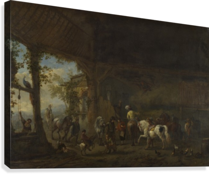 The Interior of a Stable  Canvas Print