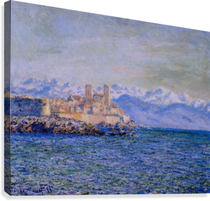 The Old Fort at Antibes  Canvas Print