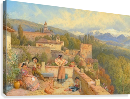 The Sierra Nevada from the Alhambra  Canvas Print