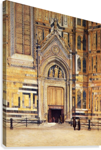 The South Door of the Duomo 1881  Canvas Print