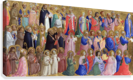 The Virgin Mary with the Apostles and Saints  Canvas Print