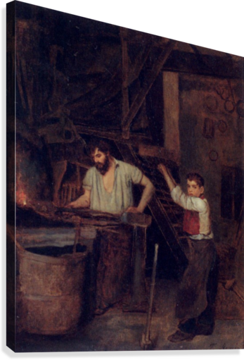 The blacksmiths  Canvas Print