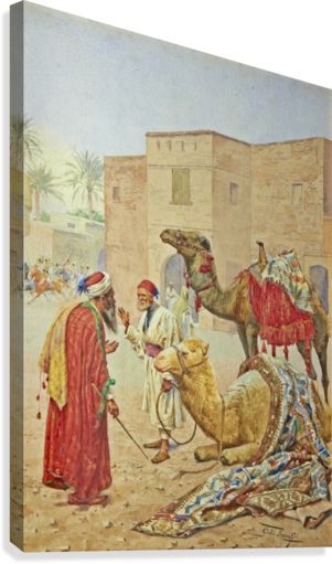 The camel seller  Canvas Print