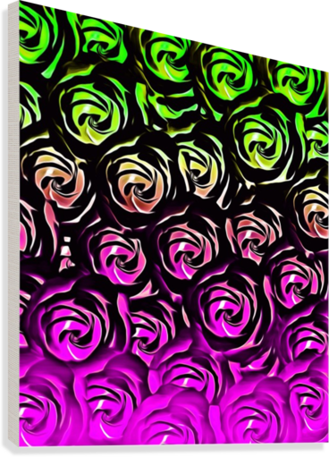 rose pattern texture abstract background in green and pink  Canvas Print